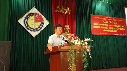 Hội nghị Học tập, quán triệt, tuyên truyền, triển khai thực hiện Nghị quyết Đại hội đại biểu Toàn quốc lần thứ XII của BCH TW Đảng