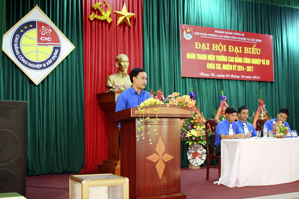 Đ/c Phạm Xuân Thành phát biểu tại Đại hội