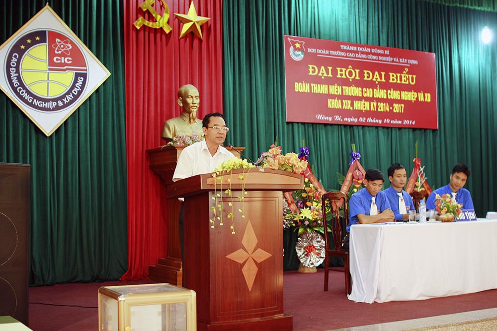Đ/c Hà Văn Lưu phát biểu tại Đại hội