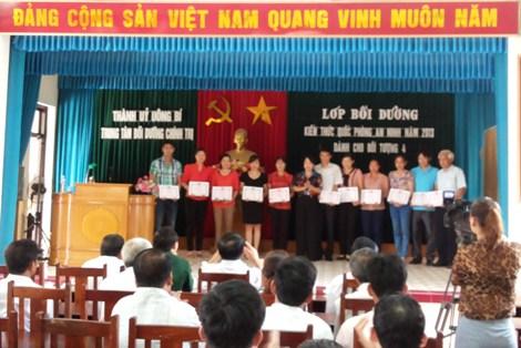 (19/07/2013)- Trường CĐ Công nghiệp và Xây dựng chấp hành tốt công tác Bối dưỡng kiến thức Quốc phòng –An ninh năm 2013 do Trung tâm Bồi dưỡng chính trị Thành phố Uông Bí tổ chức.